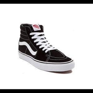 Vans Sk8 Hi Skate Shoe - Black / White